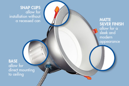 TCP LED Commercial Recessed Downlights